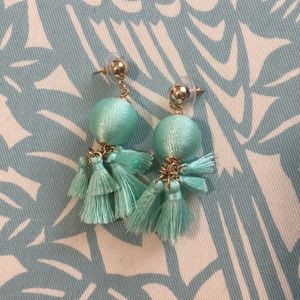 Sugarfix by Baublebar Teal Tassel Earrings